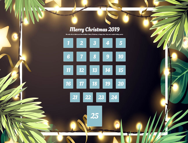 Our Advent calendar for 2019